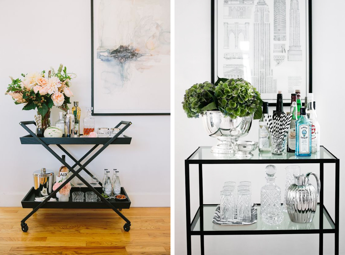 Styling Your Bar Cart The Home Studio Interior Designers