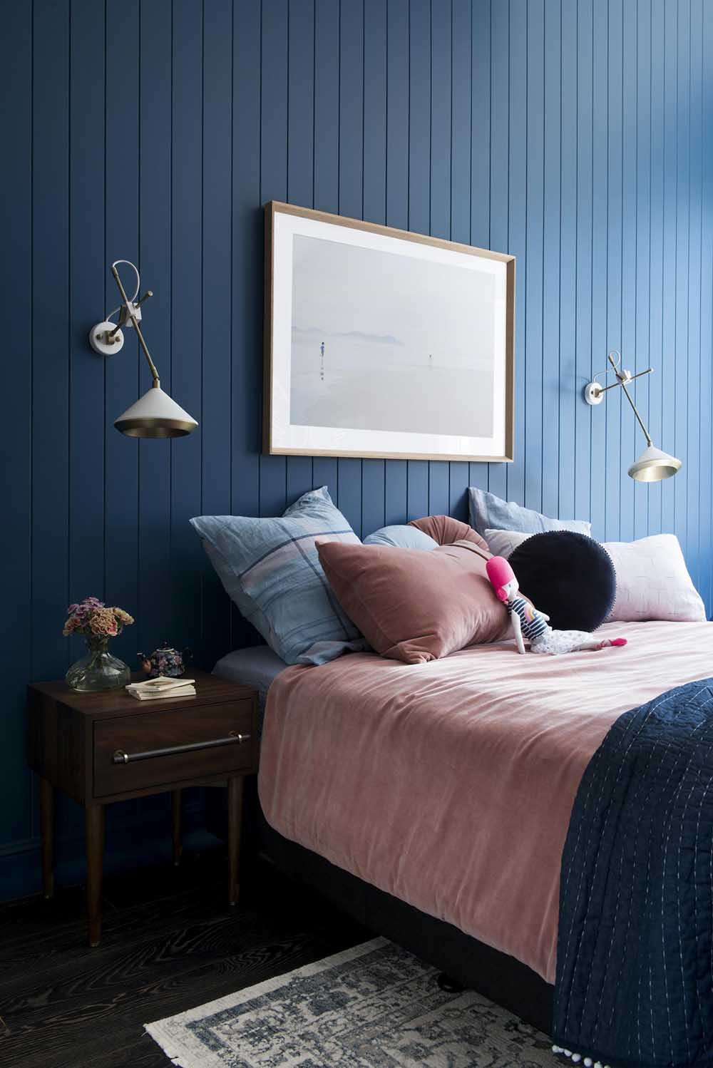THS PROJECT   GIRL\'S DARK BLUE + PINK BEDROOM CONCEPT   The ...